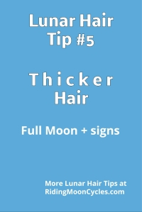 Lunar Hair Tip #5 - Thicker Hair