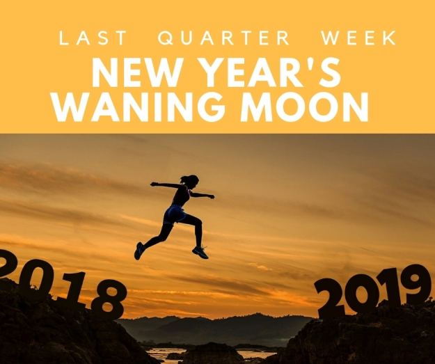 Riding Moon Cycles New Year's Last Quarter Moon