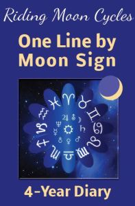 riding moon cycles one line by moon sign 4-year diary journal
