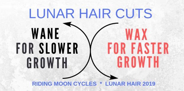 Lunar Hair 2019 Wax and Wane Lunar Hair Chart